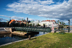 Cityscape (Maria Eklind) Tags: city outdoor houses euorpe malm cityview street reflection spegling buildings norravallgatan himmel sweden architecture clouds skneln sverige se