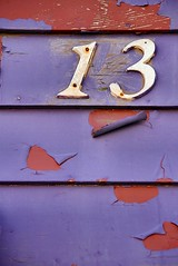 13 (Karen_Chappell) Tags: 13 thirteen purple number house rowhouse stjohns city urban downtown paint painted red wood wooden clapboard newfoundland nfld