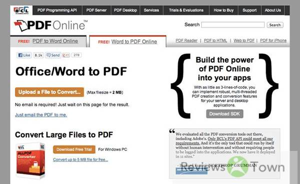 Top 10 Best MS Office to PDF Converter Online Programs