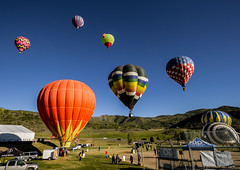 Snowmass Balloon Festival - 3 (k.pat) Tags: snowmass balloon festival hotair hot air colorado aspen village fly high sky soar launch photo photography rockie mountains altitude colorful colors