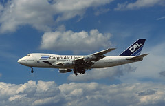 Cargo Airlines 747 '4X-ICL' (Longreach - Jonathan McDonnell) Tags: germany frankfurt frankfurtammain eddf nikoncoolscanved scanfromaslide boeing boeing747 747 4xicl 747200 747271c cargoairlines cal cargo fra018 009 2000s 2001