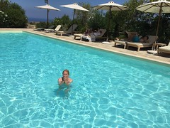 Pool at Kapsaliana Village Hotel (Crete, Greece) (Tjeerd) Tags: janine kapsalianavillagehotel swimmingpool pool crete greece septemberholiday summeringreece greekholiday swimming holidayingreece chilly