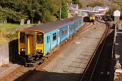 Past the Graveyard at Blaenau (Chris Baines) Tags: arriva trains wales class 150 departing blaaenau ffestiniog service llandudno 150230 57316 nenta charter norwich