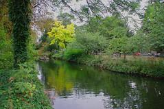 D15607.  Lloyd Park. (Ron Fisher) Tags: water lake pond lloydpark walthamstow e17 london londone17 trees green path pentax pentaxkx tamron tamron18200mm tamronaf18200mmf3563xrdiiildasphericalif park reflections
