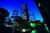 Day 240/366 : The Shades of Night (hidesax) Tags: blue light building japan skyscraper tokyo nikon shinjuku raw dusk hour nikkor hdr d90 5xp nikond90 nikkor1424mmf28ged hidesax day240366theshadesofnight