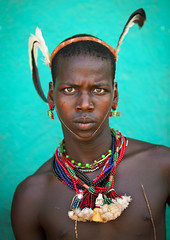 Maze Hamer Whipper, Turmi, omo valley, Ethiopia (Eric Lafforgue) Tags: africa portrait people color vertical wall outside outdoors photography necklace beads day serious culture tribal maze bead omovalley strength tradition ethiopia tribe ethnic whipper hamar perle oneperson headband tribo tassel hamer traditionalculture hornofafrica ethnology omo eastafrica thiopien greenbackground tribesman ethiopie traditionalclothing realpeople colorimage lookingatcamera coloredbackground waistup 8120  dimeka turmi africanethnicity pastoralist ethiopi  etiopien etipia   snnpr    oneadult    southernnationsnationalitiesandpeoplesregion hamerbenaworeda ethiopianethnicity thiopien