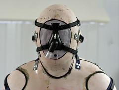 Mk2 head detail (Castineer) Tags: fetish body bondage rubber cast bodycast reusable