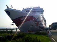 Norwegian Jewel (NorthernExpedition) Tags: cruise cloud sun water fog point ship victoria terminal line norwegian ogden norwegianjewel