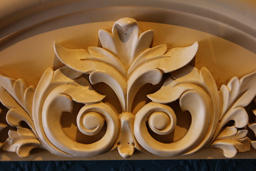 Custom floral woodwork
