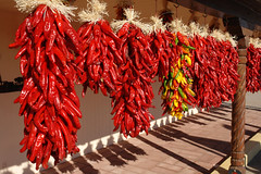 Lots of ristras (desert11sailor) Tags: chile newmexico hatch greenchile hatchnm chileroast