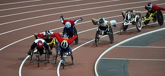 Men's 800m T54, Paralympics, London, 6th September 2012 (Belhaven2011) Tags: uk greatbritain england men london field bronze silver gold athletics nikon track bladerunner stadium wheelchair peacock elite runners blade olympic athletes olympics athlete runner sprint goldmedal blades weir browne paralympics 100m trackandfield london2012 sprinter javelin pistorius oscarpistorius t44 davidweir 100metres 55300 d5000 eliteathlete richardbrowne 1685mm 55300mm jonniepeacock blakeleeper jeromesingleton runnerjpg athleticsjpg londonjpg alanfontelescardosooliveira arnufourie liuzhiming