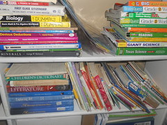 Homeschool Textbooks and Other Reading Material (Lyn Lomasi) Tags: school education classroom shelf supplies homeschool organization materials textbook organize