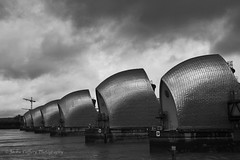 London Thames Barrier (pixiepic's) Tags: london clouds river steel blackdiamond thamesbarrier daarklands ruby5