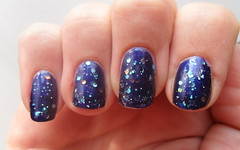Blue glitter nails (jana7800) Tags: blue hot art glitter dark hands brother nail fingers blues glorious nails ii essence vol aquarius nailpolish shimmer nailart catrice