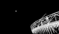IMG_1804 (Kin Chan I Photographer) Tags: bw moon building london architecture night evening blackwhite stadium olympics olympicstadium 2012