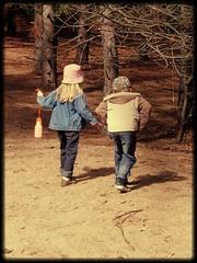 creeping kids (~Bella189) Tags: trees kids forest back path ottawa olympus behind dogpark creeping brucepit gamewinner challengeyouwinner herowinner storybookwinner showbizwinner olympustg820