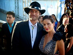Director Robert Rodriguez and Constance Marie