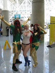 DeadPool, Power Girl and Phoenix (Vegas PG) Tags: phoenix girl power expo cosplay harley quinn driver lex 2012 luthor powergirl deadpool vegaspg comikaze vegaspgcosplay