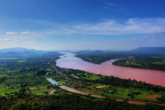 Mekong River View (ulli_p) Tags: travel blue nature water colors beautiful clouds river landscape thailand colorful asia southeastasia colours best laos mekong cloudscapes isan mekongriver photomix travelphotography amazingcolours cloudshot anawesomeshot flickraward earthasia thebestshot mygearandme canoneoskissx5 mekonriverview