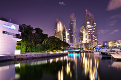 Marina Keppel Bay - The Caribbean [Explored] (RnD.de.Portraits) Tags: longexposure bridge cloud night lights singapore nightshot awesome caribbean keppel travelphotography keppelbay flickrawards marinakeppelbay caribbeancondominium