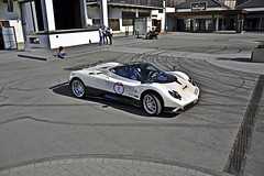 I Am Innocent (JoschAMV8) Tags: park white car photoshop nikon alone tire marks f zonda pagani nürburgring
