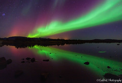 Dancing in the dark - Aurora Borealis (Gulli Vals) Tags: park mountains green dark lights iceland dancing national aurora nordic northern ingvellir borealis gullivals