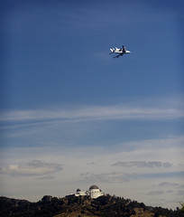 Shuttle Endeavour over Griffith Observatory (Dan Hontz) Tags: los angeles space observatory hollywood shuttle griffith endeavour