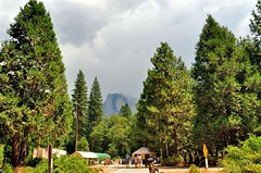 Yosemite National Park (faungg) Tags: park travel trees sky usa mountains green nature rock landscape us scenery rocky national yosemite halfdome