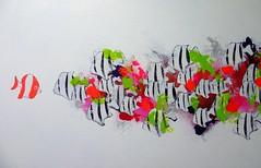 Pretty In Pink by Gino Sauerbier (Gino Sauerbier) Tags: ocean pink sea white fish art nature water dutch painting funny colorful pretty artist modernart kunst cartoon thenetherlands natuur schilderij zee wit vissen moderneku