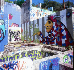 Slide 3 (shawnpselby) Tags: 6x6 film austin graffiti hasselblad velvia castlehill distagon rvp100