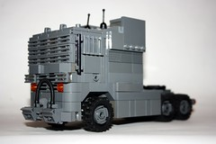 The Truck (Babalas Shipyards) Tags: tractor truck lego military lorry rig logistics