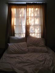 Morning in the desert (catheadsix) Tags: morning light bed bedroom shadows desert cottage sheets lumiere reveil matin draps panamintspring dvnp