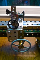 Meccano Lathe saddle and cross slide
