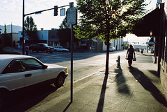 Grants Pass (Peter Gutierrez) Tags: county street morning usa sun sunlight signs streets west building film sign architecture oregon america sunrise buildings town us photo downtown northwest or united north pass sunny peter american josephine gutierrez states grants pass petergutierrez grants