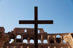 Colosseum Cross (Sebastian Niedlich (Grabthar)) Tags: italien italy rome roma nikon italia cross sigma colosseum rom 2012 colosseo flavianamphitheatre d90 grabthar sebastianniedlich sep12 nikond90 sigma182003563dcos