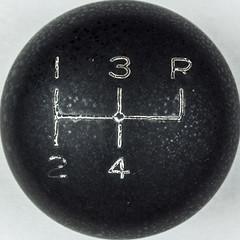 Shift knob (Carbon Arc) Tags: truck pattern shift squaredcircle stick manual knob bakelite transmission 4speed fouronthefloor fourspeed