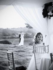 Flower Girl (andycruxton) Tags: wedding white black marquee greyscale