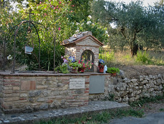 Shrine and old well (Miss Tiggywinkle) Tags: italy ancient shrine well pozzo tavernelle umbriaitaly santuariodellamadonnadimongiovino