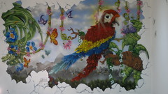 Parrot mkt wtn (HULL GRAFFITI) Tags: flowers art nature that graffiti all bees n butterflies parrot stuff si2