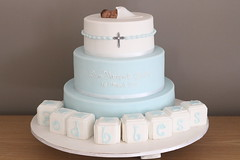 Christening Cake (Anita.A.) Tags: blue sleeping baby white cake christening blocks
