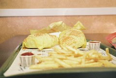 lunch time (allisoncorbin17) Tags: food lunch yum ketchup burger fat mcdonalds fries gross cheap