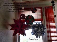 Kusudama Fenster 3.1 (UR Fleurogami) Tags: star spring origami sweet mina stern arabesque kusudama florentia miotsugawa bascetta bltenball paolobascetta enricadray nataliaromanenko