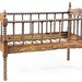 70. 19th Century Folding Spindle Crib