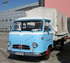 Little Borgward cabover truck (The Rubberbandman) Tags: world old classic truck vintage germany cab transport over engine meeting cargo lorry german vehicle bremen freight coe flatbed lastwagen borgward lkw laster cabover b611