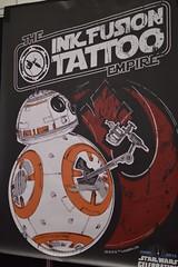 would you trust him? (coffeebucks) Tags: bb8 droid tattoo starwars starwarscelebration starwarscelebrationeurope swce londonexcel londonexcelcentre starwarscelebration2016 starwars2016