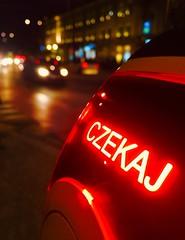 'Joe le Taxi' Waiting in Warsaw (sjpowermac) Tags: wait trafficlights warszawa czekaj traffic taxi