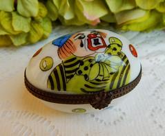 Limoges France Peint Main Porcelain Trinket Box ~ Clown (Donna's Collectables) Tags: limoges france peint main porcelain trinket box ~ clown