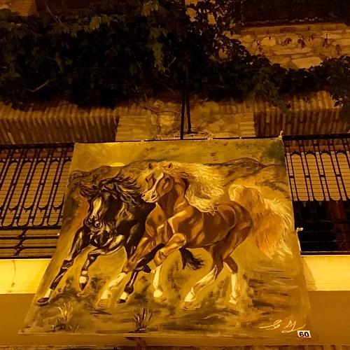 Precioso lienzo, Art al Balcó Biar, exposición de pintura al aire libre @biarsensacion @costablancaorg #miveranocostablanca #igers #igersalicante #comunidadvalenciana #cultura #arte
