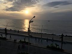 Sunrise Click by iPhone 6s .. On 24th July at 06:30AM...  Beach Road, White Town, Puducherry, Puducherry, India (aboubakerm) Tags: puducherry pondicherry pudhuvaiindia