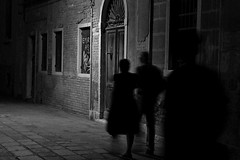 shadows (marcobertarelli) Tags: shadows ghost phantasm light old history return misterious contrast black white bw street night fear